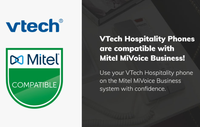 VTech Hospitality Phones Receive Mitel MiVoice Business Compatibility Status