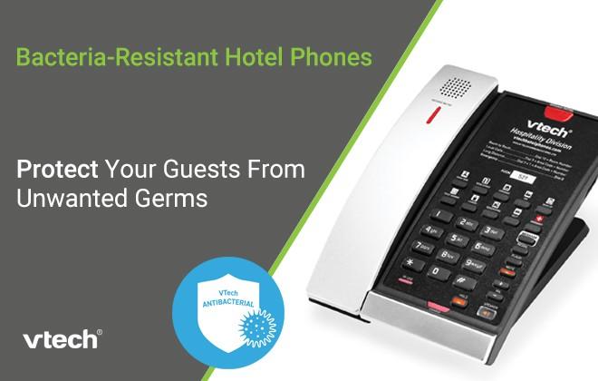 Bacteria-Resistant Hotel Phones